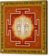 Shri Maha Lakshmi Paduka Acrylic Print
