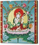 Shri Saraswati - Goddess Of Wisdom And Arts Acrylic Print