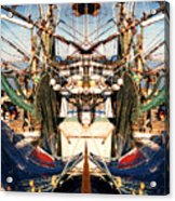 Shrimp Boat Abstract Acrylic Print