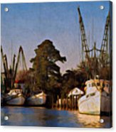 Shrimp Boat Fleet Georgetown Sc Acrylic Print