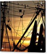 Shrimp Boat Rigging Acrylic Print
