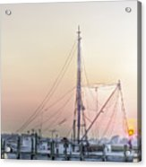Shrimp Boat Sunset Acrylic Print