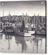 Shrimp Boats Mosquito Fleet Acrylic Print by Fred Jinkins