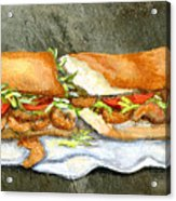Shrimp Po Boy Acrylic Print