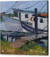 Shrimpboat Docks At St. Augustine Port Acrylic Print