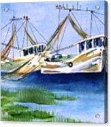 Shrimpboats Acrylic Print