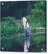 Shrimping In The Bayou Acrylic Print