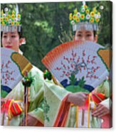 Shrine Maidens From Tsurugaoka Hachimangu Shrine Acrylic Print
