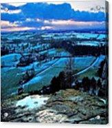 Shropshire Winter Sunset Scene Acrylic Print