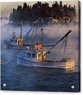Shrouded In Morning Sea Smoke Acrylic Print