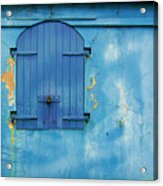 Shuttered Blue Acrylic Print