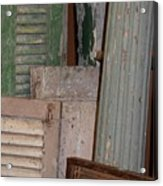 Shutters And Column  Acrylic Print