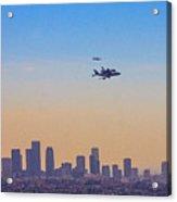 Shuttle Over La 2 Acrylic Print