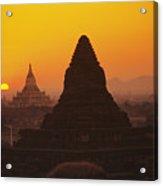 Shwesandaw Paya Temples Acrylic Print