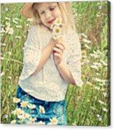 Shy Child Acrylic Print