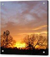 Sky On Fire Acrylic Print