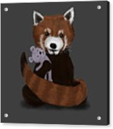 Shy Red Panda Acrylic Print