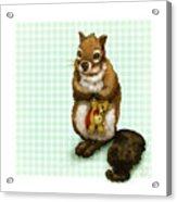 Shy Squirrel Acrylic Print