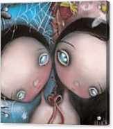 Siamese Twins Acrylic Print by  Abril Andrade Griffith