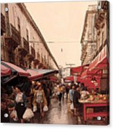 Sicilian Market After The Rain Acrylic Print