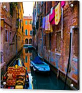 Side Canal  Venice Acrylic Print
