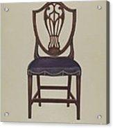Side Chair (one Of Six) Acrylic Print