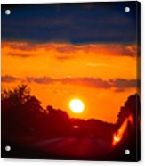 Side Mirror Sunset Acrylic Print