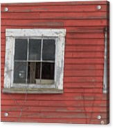 Side Of An Old Red Barn Quechee, Vermont Acrylic Print