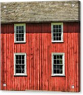 Side Of Barn And Windows At Old World Wisconsin Acrylic Print