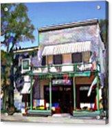 Side Street Cafe Los Olivos Ca Acrylic Print