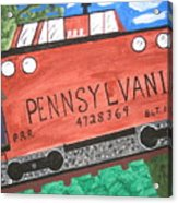 Side Tracked In Pa.  Acrylic Print