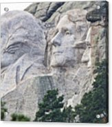Side View Of Mount Rushmore  8696 Acrylic Print
