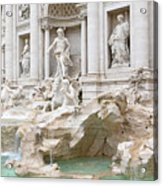 Side View Of The Trevi Fountain In Rome Acrylic Print