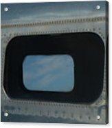 Side Window Beechcraft Model 18-signed-#8604 Acrylic Print