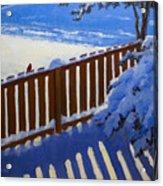 Side Yard Snow Acrylic Print