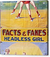 Sideshow Poster, C1975 Acrylic Print by Granger