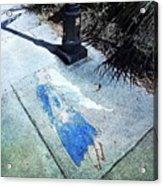 Sidewalk Angel Acrylic Print