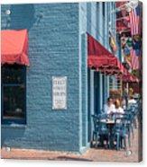 Sidewalk Cafe Annapolis Acrylic Print