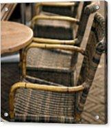 Sidewalk Cafe Texture Acrylic Print