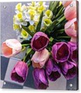 Sidewalk Flowers Acrylic Print