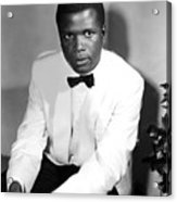 Sidney Poitier, On The Set For The Film Acrylic Print by Everett