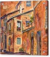 Siena Alley Acrylic Print
