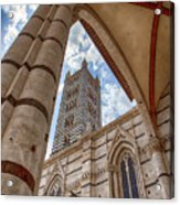 Siena Cathedral Tower Framed By Arch Acrylic Print