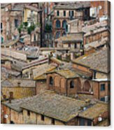 Siena Colored Roofs And Walls In Aerial View Acrylic Print
