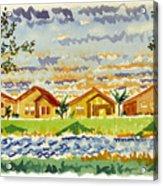Siena Lakes Acrylic Print