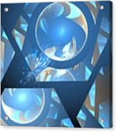 Sienna Blue Honeycomb Acrylic Print