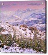 Sierra Nevada At Sunset Acrylic Print