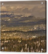 Sierra Nevada Winter Vista Acrylic Print