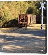 Sierra Railway Hoppers Acrylic Print by Troy Montemayor