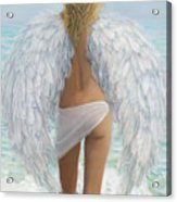 Siesta Key Beach Angel Acrylic Print